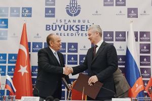 Мэр Москвы Сергей Собянин и Мэр Стамбула Кадир Топбаш подписали программу сотрудничества
