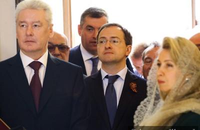 Мэр Москвы Сергей Собянин принял участие в в церемонии освящения храма Преображения Господня
