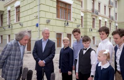 Мэр Москвы Сергей Собянин осмотрел комплекс зданий Московской средней специальной музыкальной школы им. Гнесиных на Знаменке