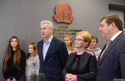 Мэр Москвы Сергей Собянин открыл сегодня новый бассейн для студентов МГМУ