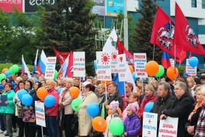 Жители ЮАО приняли участие в митинге в поддержку инициативы Любови Духаниной о создании новой системы детских городских лагерей