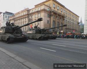 В Москве 5 и 7 мая будут проводиться репетиции парада Победы, приуроченного к 71-й годовщине окончания ВОВ