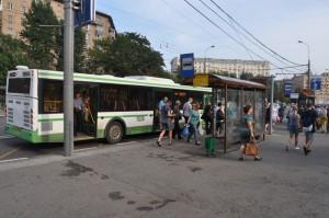 Автобус старого образца в ЮАО