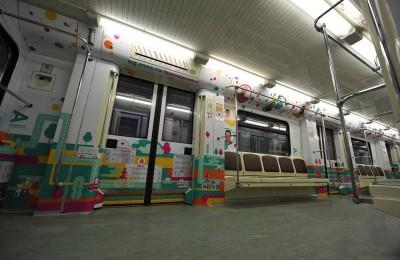 К двухлетию проекта «Активный гражданин» на Кольцевой линии метро запустили тематический поезд