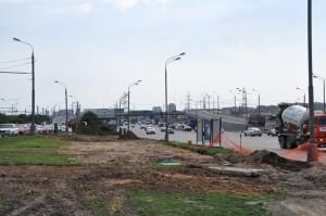 Строительство на Варшавском шоссе