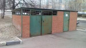Мусорный контейнер в Москве