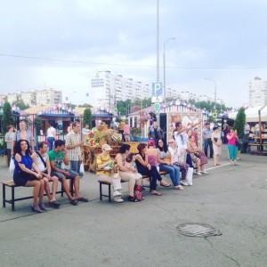Площадка фестиваля возле ТЦ Домодедовский