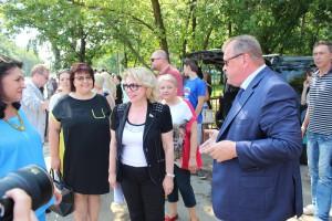 Алексей Челышев и Елена Панина на церемонии закладки памятной капсулы
