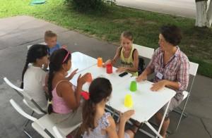 Дети района Братеево на интерактивном часе