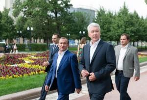 Собянин открыл благоустроенный парк Олимпийской деревни