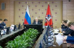 Сергей Собянин во время заседания Президиума правительства Москвы