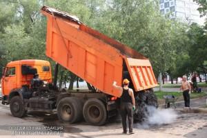 Дорожные работы в Москве