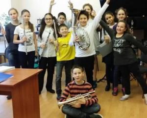 Музыканты духового оркестра школы искусств№10