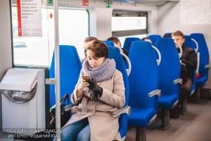 Фото 1. В вагоне поезда МЦК