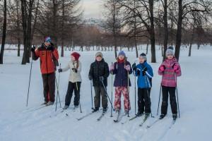 Лыжники ЮАО