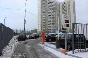 Парковка в районе Братеево