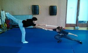 Занятие в студии фехтования Sword art в ЮАО