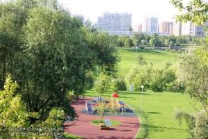 Каскадный парк в районе Братеево