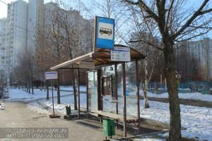 Остановка общественного транспорта в районе Братеево