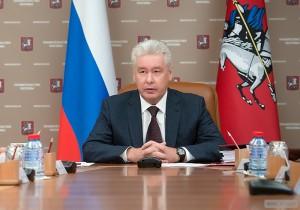 Мэр Москвы Сергей Собянин на заседании правительства