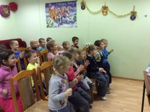 Юные жители района Братеево на новогоднем празднике