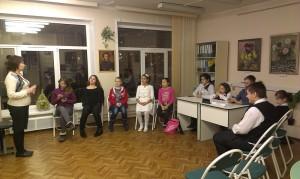 """Юные участники кружка """"Общение+"""" в библиотеке №150"""