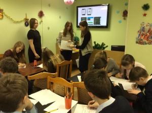 Школьники Братеева на встрече с художницей Еленой Трубиной