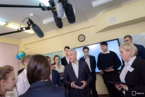 «Я надеюсь, что этот проект выведет московские школы ещё на более высокий уровень — не только российский, но и мировой», — сказал  Сергей Собянин