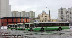 Автобусный парк в районе Братеево