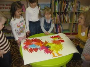 Занятие «Веселый петушок» в библиотеке на Ключевой