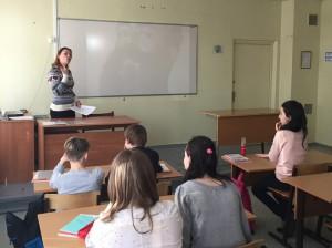 """Ученики 6 """"Б"""" класса школы №998 на познавательном часе «Мифы о славянах»"""