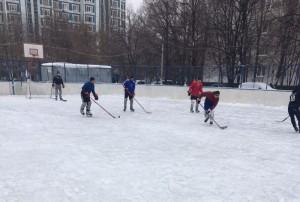 Товарищеский матч по хоккею между представителями Молодежной палаты