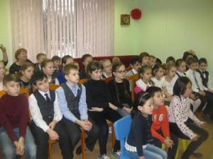 Юные посетители мероприятия в библиотеке на Ключевой