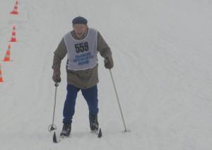 Мусатов Михаил Иванович на окружной Спартакиаде по лыжным гонкам «Спорт для всех»