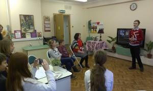 Юные жители района на встрече, посвященной 180-летию со дня гибели А.С. Пушкина