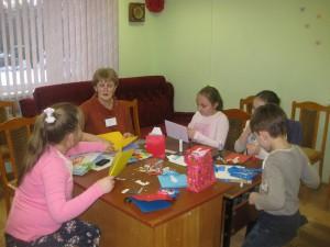 Мастер-класс для юных посетителей в библиотеке на Ключевой