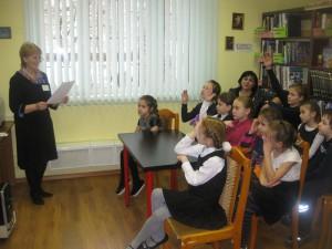 Юные жители района на мероприятии в библиотеке на Ключевой
