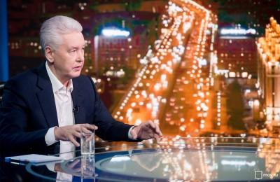 Мэр Москвы Сергей Собянин в эфире ТВЦ 2