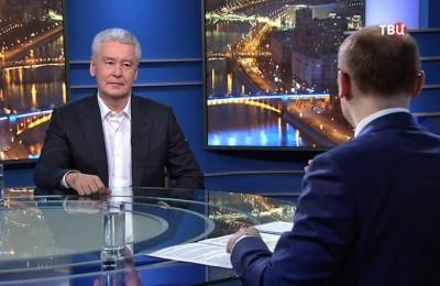 Мэр Москвы Сергей Собянин в эфире ТВЦ