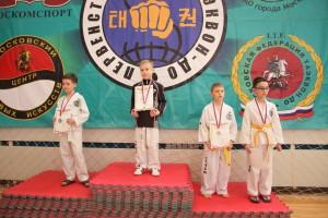 Победители соревнований по тхэквондо в Братеево