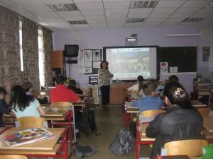 Сотрудники библиотеки показали школьникам презентацию о Третьяковской галерее