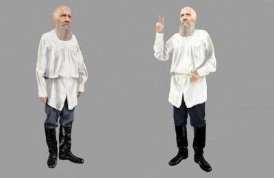 Виртуальное изображение Льва Толстого
