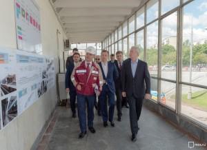 Мэр Москвы Сергей Собянин осмотрел ход капитального ремонта на Филевской линии метро