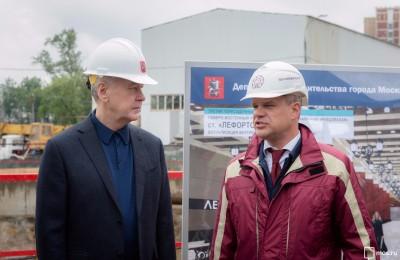 Мэр Москвы Сергей Собянин осмотрел ход строительство участка ТПК