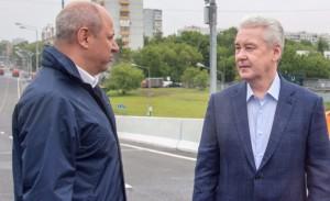 Мэр Москвы Сергей Собянин открыл Аминьевское шоссе после реконструкции
