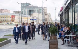 Мэр Москвы Сергей Собянин осмотрел благоустроенные улицы