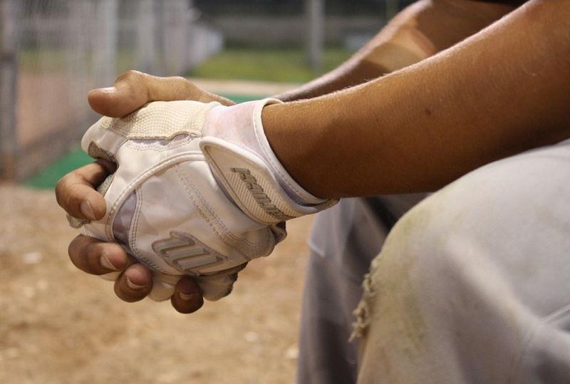 На бейсболе